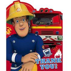 Feuerwehrmann Sam - Dankeskarten