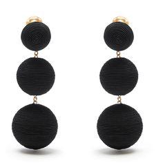Rebecca de Ravenel Corded-silk drop clip-on earrings ($305) ❤ liked on Polyvore featuring jewelry, earrings, graduation gifts jewelry, white clip earrings, graduation jewelry, clip on earrings and boho earrings