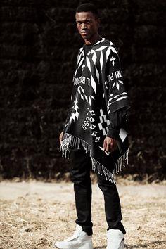 Modern African Clothing, African Men Fashion, Mens Fashion, Fashion Outfits, Mens Poncho, African Print Shirt, Gentleman Style, Costume Design, Urban Fashion