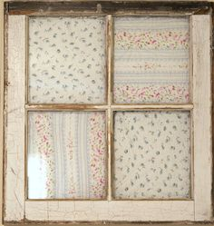 old quilts, old window frame... new idea!