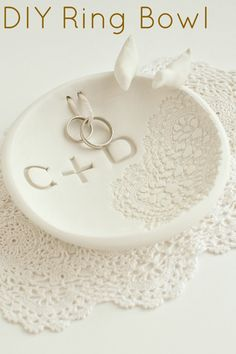 DIY Ring Bowl Made from Oven-Bake Clay | Intimate Weddings - Small Wedding Blog - DIY Wedding Ideas for Small and Intimate Weddings - Real Small Weddings