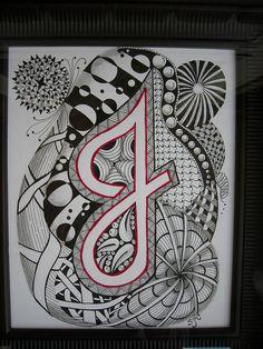 #Zentangle Inspired Letter J