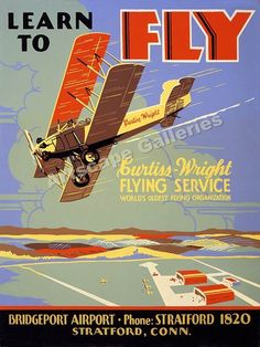 VINTAGE 1923 BIPLANE AIR RACES ADVERTISING POSTER PAINTING ART REAL CANVAS PRINT