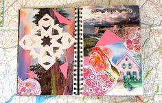 Travel Diary: Pink Scrapbook Paper + Photos