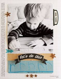 """Love the design and colors in this amazing layout! """"rrrr"""" by pamlee81 at @Studio_Calico"""
