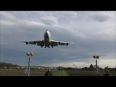 Spectacular landing of a Cargolux Boeing 747 at Dübendorf (with live ATC) Boeing 747, Atc, Landing, Plane, Air Force, Aviation, Aircraft, Youtube, Airplane
