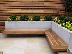Landscape gardeners in chelsea garden mum, garden beds, terrace garden, gar Backyard Seating, Backyard Patio Designs, Small Backyard Landscaping, Garden Seating, Terrace Garden, Backyard Ideas, Backyard Pools, Pergola Ideas, Garden Bench Seat