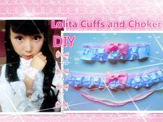 Kawaii DIY-Easy Way to Make Lolita Wrist Cuffs and Choker Yumi King