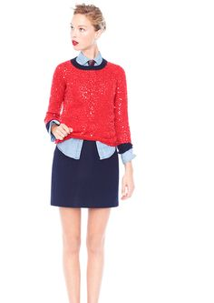 J Crew winter 2012 collection. Love the sequin sweater