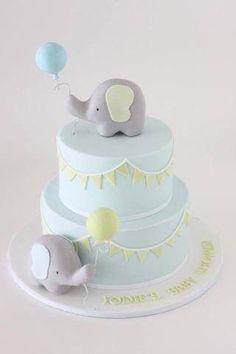 baby shower cake ideas elephant best cakes on fondant boy christening Idee Baby Shower, Torta Baby Shower, Baby Shower Cupcakes, Baby Boy Shower, Baby Party, Baby Shower Parties, Baby Shower Themes, Baby Shower Decorations, Baby Showers