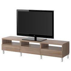 BESTÅ Tv-meubel met lades - lichtgrijs - IKEA