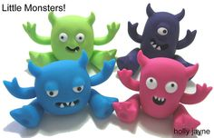 littlemonsters  polymer clay, jointed arms and legs