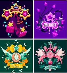 Fancy name tags for the gems in steven universe