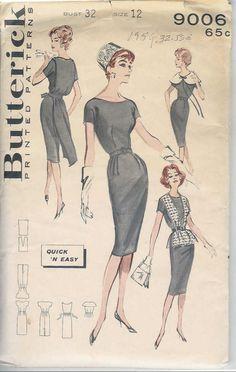 Butterick 9006 Quick 'n Easy Bonus Basic Sheath Dress