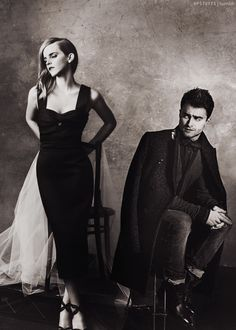 Wow, stunning photo of Emma Watson and Daniel Radcliffe from Harry Potter. Daniel looks awfully handsome in this pic
