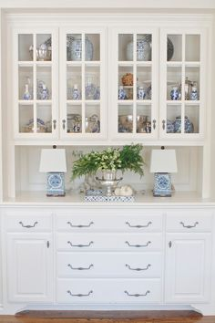 Eleven Gables Fall Home Tour 11gables.blogspot.com  Blue and White Transferware | Fall Styling | White Kitchen