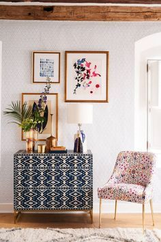 Shop the Ikat Inlay Three-Drawer Dresser and more Anthropologie at Anthropologie… – Picture Boxes Decoration Inspiration, Room Inspiration, Decor Ideas, Boho Ideas, Furniture Inspiration, Boho Living Room, Living Room Decor, Home Interior Design, Interior Decorating