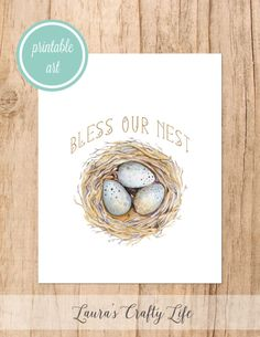Bless our Nest free printable art