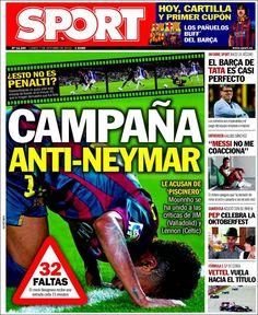 Los Titulares y Portadas de Noticias Destacadas Españolas del 7 de Octubre de 2013 del Diario Sport ¿Que le pareció esta Portada de este Diario Español?