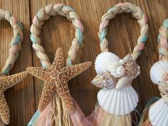 Hey, I found this really awesome Etsy listing at https://www.etsy.com/listing/106389020/starfish-and-raffia-chair-hangers-beach