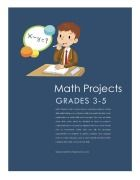 26 Math Projects with rubrics for 3rd - 5th grade classrooms