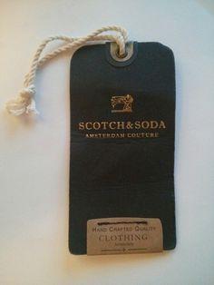 Scotch & Soda clothing tag