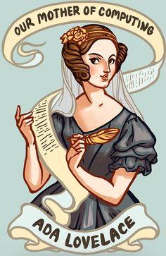 Geek Art Gallery: Illustration: Ada Lovelace - the Mother of Computer Programming - Ada Lovelace - history - women Studyblr, Ada Lovelace, Contemporary Abstract Art, Badass Women, Geek Art, Great Women, Patriarchy, Women In History, Girls Be Like