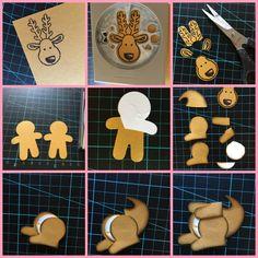 build a kangaroo tutorial - Cookie Cutter Kangaroo - Carolyn Bennie - Australian Independent Stampin' Up! Demonstrator - carolynbennie.com