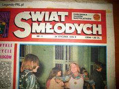 Czasopismo młodzieżowe Świat Młodych Poland Country, Old Advertisements, Old Magazines, My Childhood Memories, Quote Posters, Warsaw, The Past, Humor, Retro