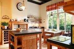 Massief houten keuken op maat in noesteneiken