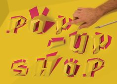 Pop Up Shop Announcement by Will Miller, really digging this type / love the skewed perspective #type