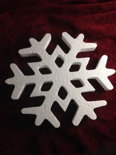 Foam Snowflake - Perfect for DIY styrofoam projects for the kids, we have something for each holiday. We can also custom make just about anything!