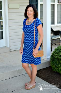 blue-chevron-dress