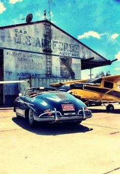 Porsche 356 airfield #porsche