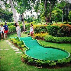 Mini Golf, Putt Putt Golf, Golf Card Game, Crazy Golf, Miniature Golf, Best Golf Courses, Backyard Games, Backyard Playground, Backyard Sports