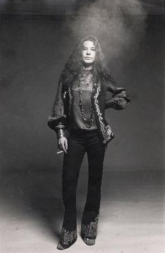 Janis Joplin fotografada por Francesco Scavullo em 1969. Minha linda chaminé ambulante, rsrs.