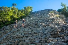 The main structure called Nohoch Mul at the archaeological site of Coba. Early bird bonus of Your Private Tour: nobody else there and you may claim to be the first on top! Swimming With Whale Sharks, Cancun Wedding, Mayan Ruins, Tour Operator, Early Bird, Archaeological Site, Riviera Maya, Merida, Tour Guide