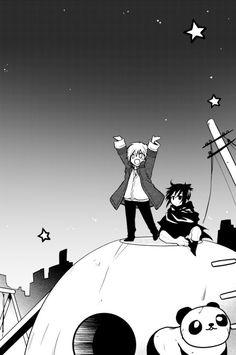 Characters: Shion & Nezumi Manga: No. 6 Artist: Kino Hinoki I edited/cleaned it a bit, original scan: here Gorillaz, Yukine Noragami, Wallpaper Animes, Fan Anime, Cute Anime Character, No 6, D Gray Man, Cybergoth, Shounen Ai