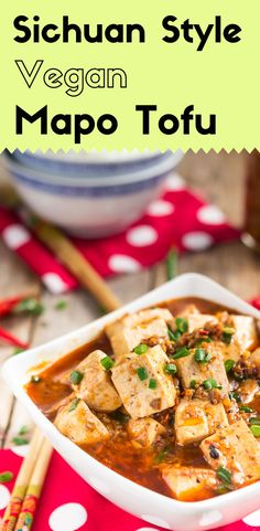This vegan mapo tofu is absolutely savory, and addictive. The shiitake mushroom chili sauce adds the pungent, meaty tastes to this dish.  With a bowl of fresh steamed rice, this bright red, hot and spicy dish will be gone in no time.  via @lightorangebean