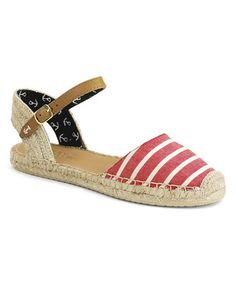 Another great find on #zulily! Red Bretton Stripe Hope Linen Espadrille by Sperry Top-Sider #zulilyfinds