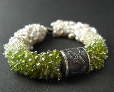 Ginkgo and Sakura  luxury gemstone bracelet.