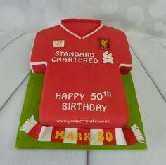 Liverpool FC football shirt cake
