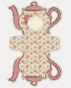 Shabby Chic Teapot Free Printable Boxes. | Oh My Fiesta! in english