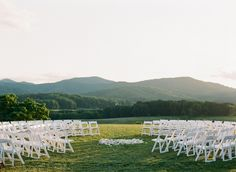 Breathtaking Ceremony Scene - cant decide if i like circle chairs or not.....