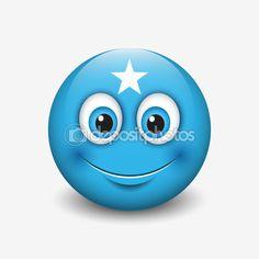 Somalia flag smiley — Stock Illustration #111572032