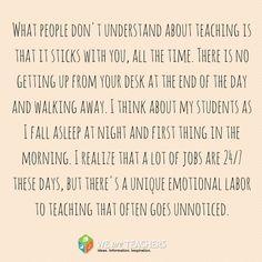 Teaching is 24/7