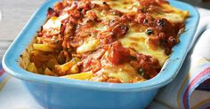 Crispy bacon, tasty tomatoes and melted bocconcini make this bake so bellissimo. We can't decide what tastes better on a cool night - the piping-hot pasta and sauce or the golden cheese on top.