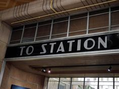 Amazing art deco typeface found throughout Union Terminal in Cincinnati.