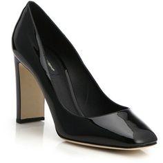 Dolce & Gabbana Patent Leather Jewel-Heel Pumps