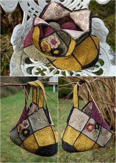 le sac de Claudine (see diagram in separate pin - square bag inspiration) Crochet Bolero, Crochet Tote, Crochet Handbags, Crochet Purses, Knit Or Crochet, Crochet Gifts, Granny Square Bag, Diy Sac, Purse Patterns